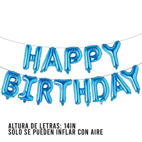 Letras Happy Birthday Blue