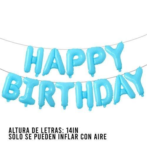 Letras Happy Birthday Light Blue