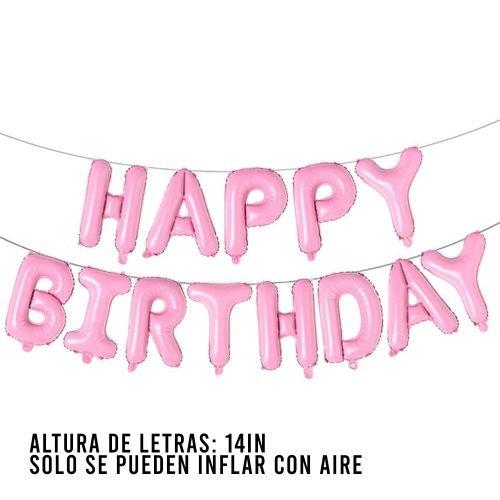 Letras Happy Birthday Light Pink
