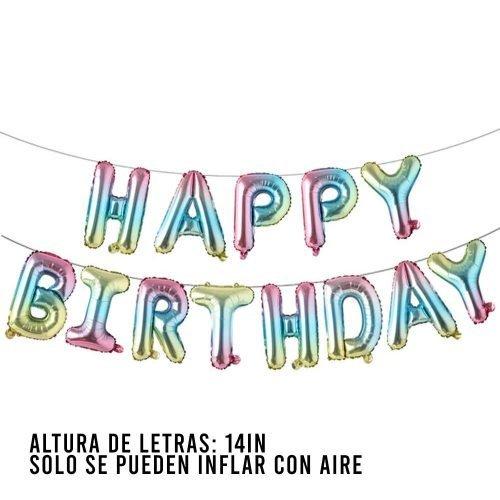 Letras Happy Birthday Pastel Mix