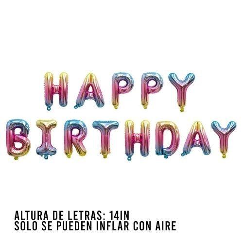 Letras Happy Birthday Rainbow Mix 2