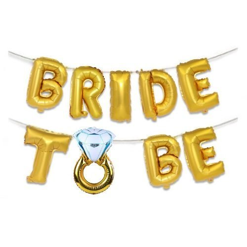 Letras Bride to Be Oro
