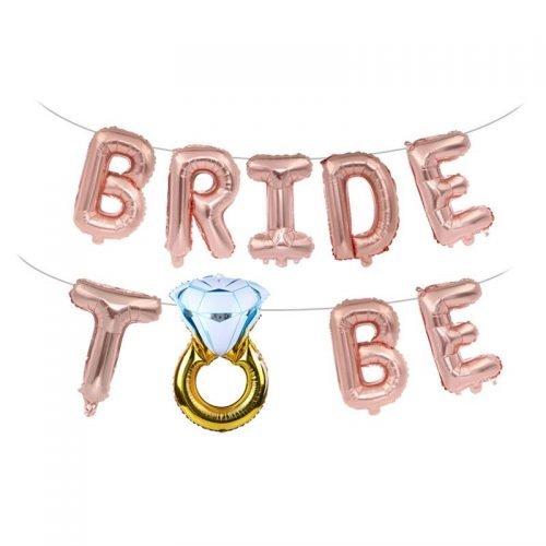 Letras Bride to Be Oro Rosado
